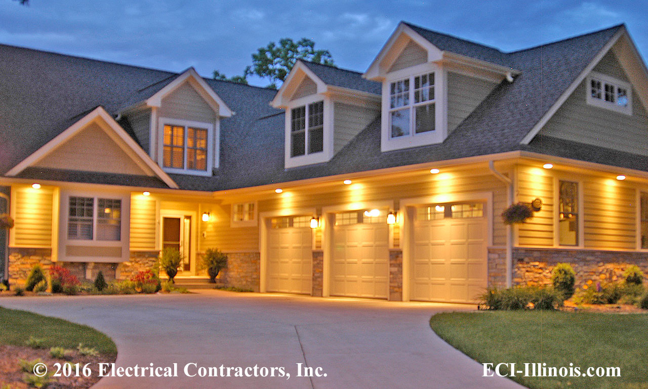 Custom homes subdivisions communities electrical work for Residential pictures
