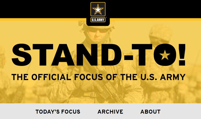 Stand-To The Official Focus of the US Army