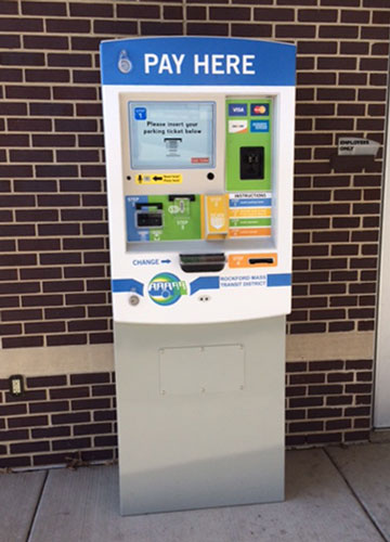 Rockford Mass Transit Vehicle Revenue Control Payment Station