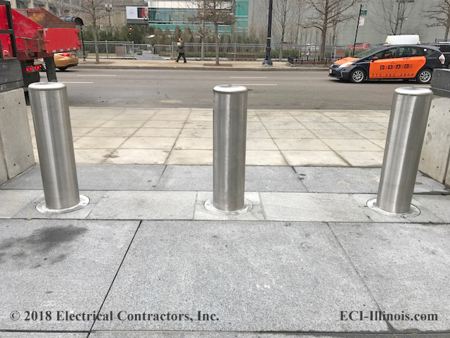 Calpipe Security Bollards Installed by ECI