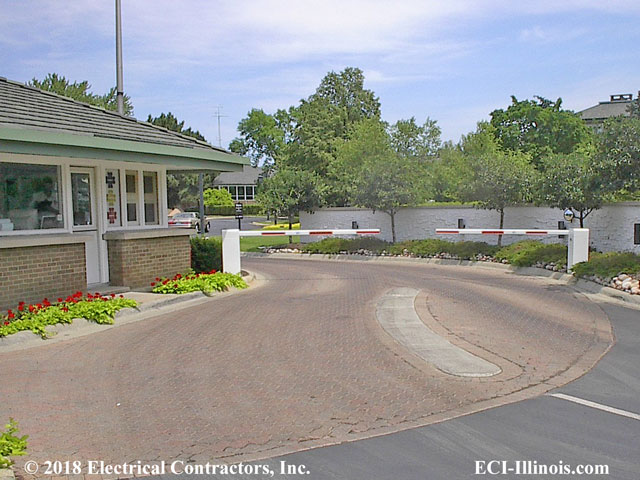 Entry Barrier Gates at Oak Brook Club