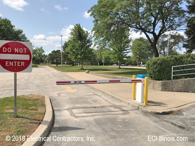 New Barrier Gate for Triton College Executive Lot Exit