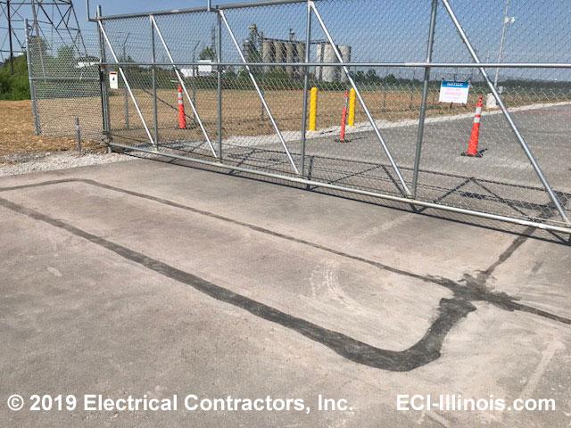 Vehicle Detector Loops at Nice Slide Gate Indiana