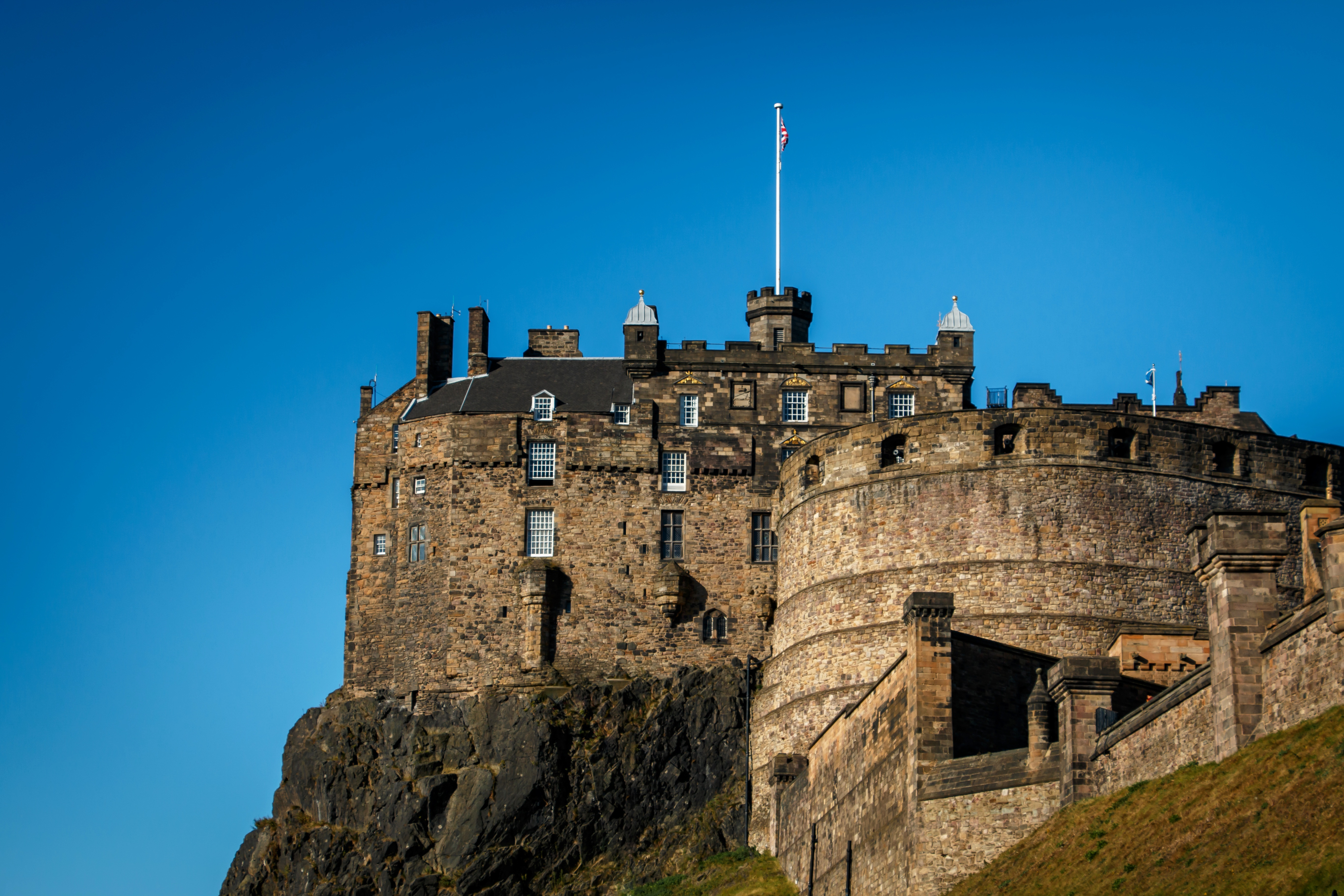 Castle Overlooking Town