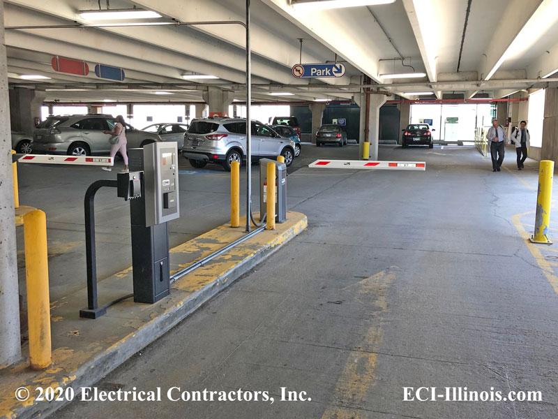 Double Lane Vehicle Access Loyola Parking Garage