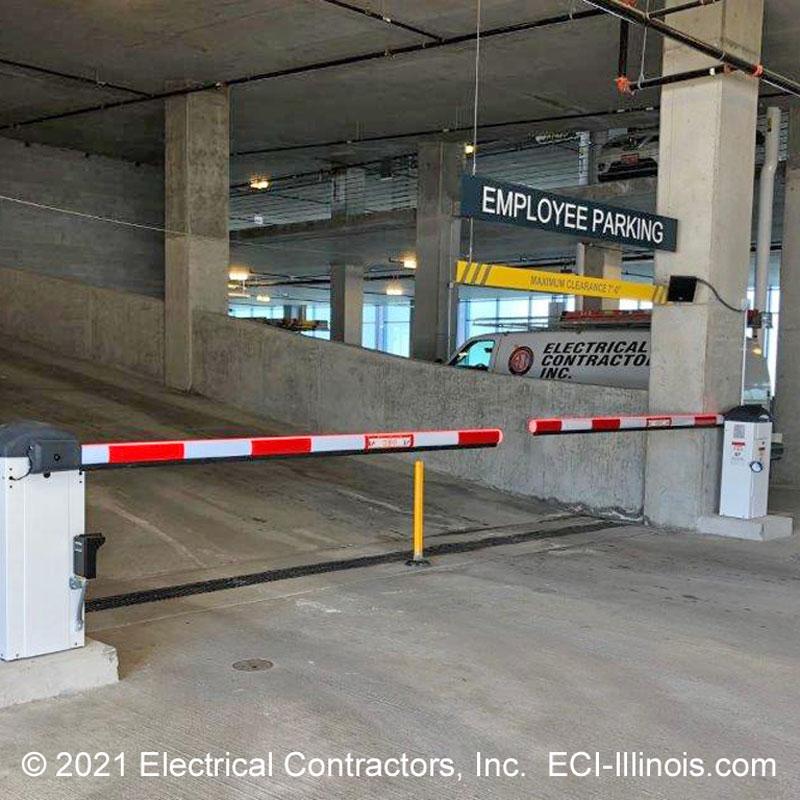 Barrier Gates Lower Level Employee Parking Schaumburg