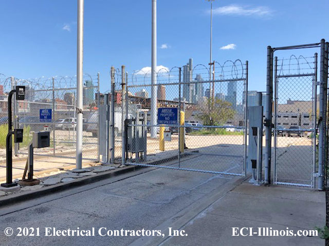 Metra Entry and Exit Lanes Swing Gate Operators